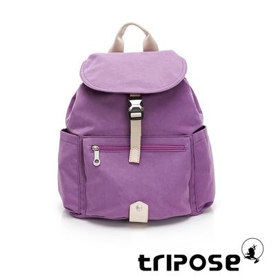 tripose MEMENTO微皺尼龍輕量後背包-大(夢幻紫)