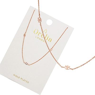 Orelia英國品牌 三眼造型玫瑰金項鍊