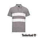 Timberland 男款淡麻灰條紋休閒POLO衫|A1W3G