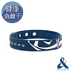 &MORE愛迪莫 KADORI負離子運動手環(藍色)