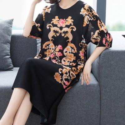 【KEITH-WILL】(預購) 韓國設計女人傾心復古印花洋裝-3色