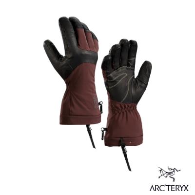 Arcteryx 始祖鳥 Fission SV GTX 耐磨保暖 防水手套 褐/紅