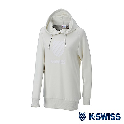 K-SWISS Hooded Sweat Shirts女休閒連帽上衣-女-白