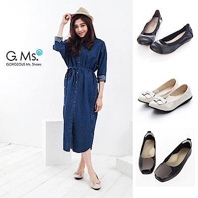 [時時樂限定]G.Ms. MIT台灣製全真皮通勤娃娃鞋多款選