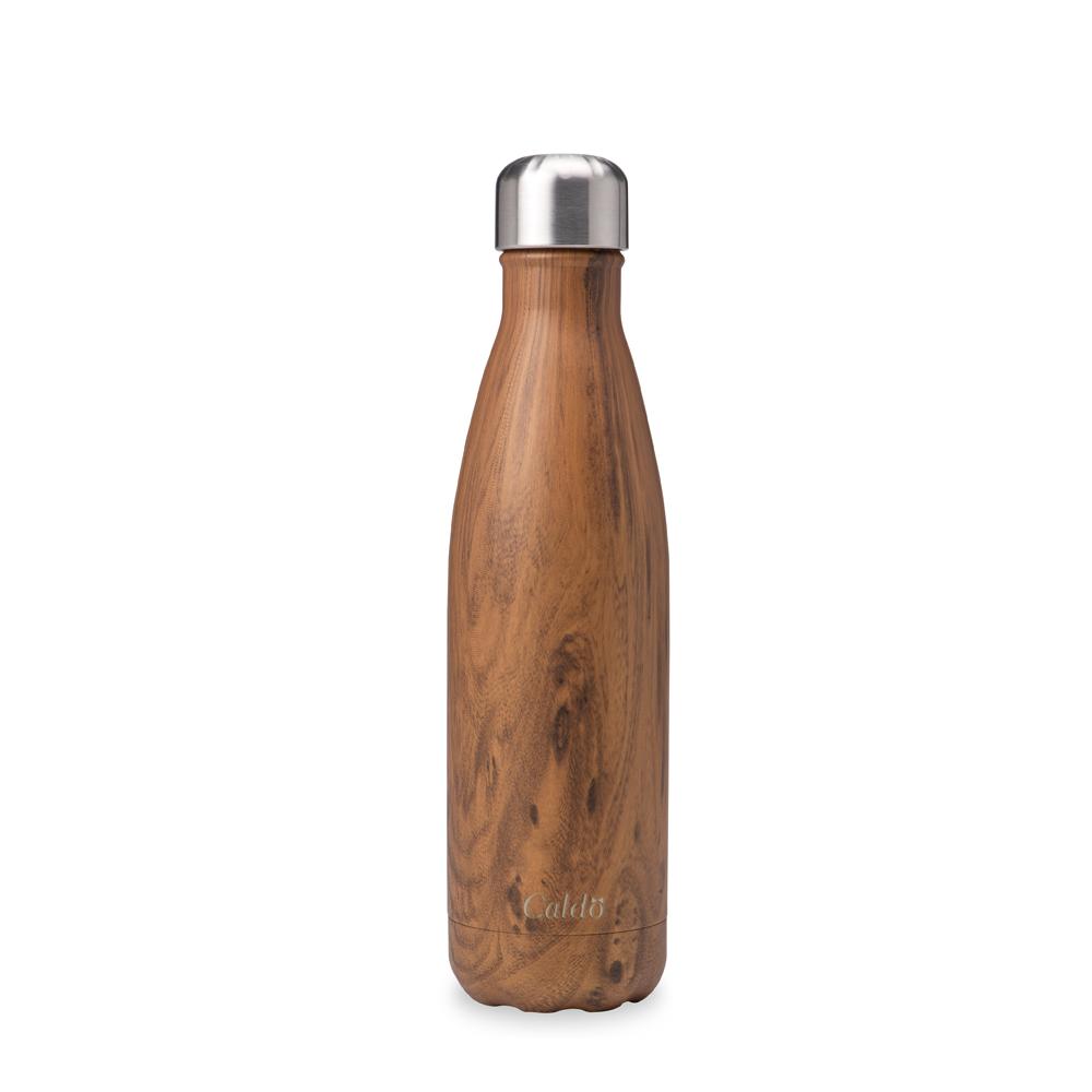 [Caldo卡朵生活] 曲線木紋不鏽鋼保溫瓶500ml product image 1