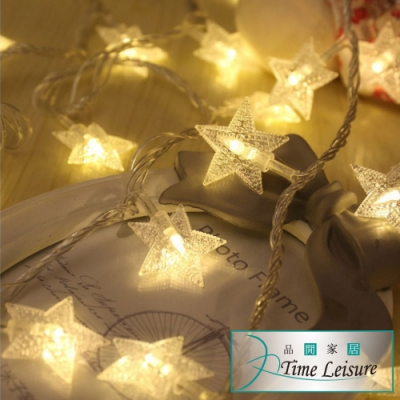Time Leisure LED派對佈置/耶誕聖誕燈飾燈串(星星/暖白/5M)
