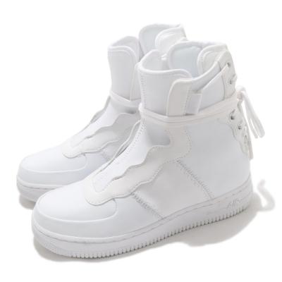 Nike 休閒鞋 AF1 REBEL XX 運動 女鞋 高筒 綁帶設計 皮革 質感 球鞋 穿搭 全白 AO1525101