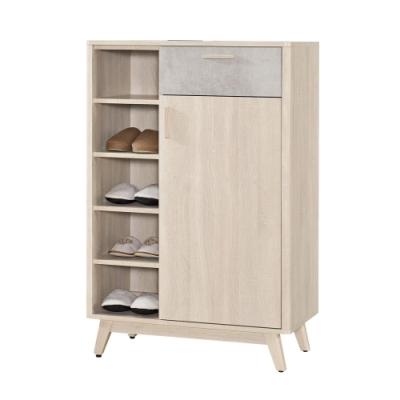 文創集 杜蜜拉 時尚2.7尺單門單抽鞋櫃/玄關櫃-80x40x122cm免組
