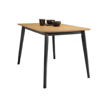 Boden-堤恩工業風4尺餐桌-原木色-120x75x75cm