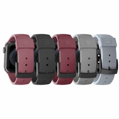[U] Apple Watch 38/40mm 舒適矽膠錶帶-藍