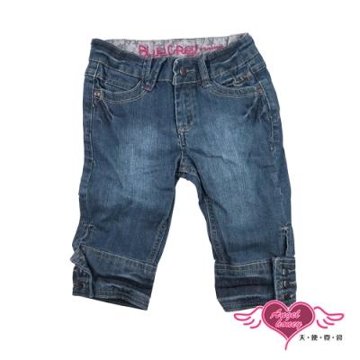 【天使霓裳-童裝】活力之星 刷白兒童牛仔長褲(藍)