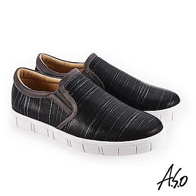 A.S.O 輕量抗震 個性百搭休閒鞋 黑