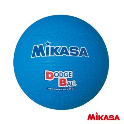 MIKASA 軟橡膠躲避球 藍 #3