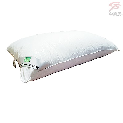 金德恩 台灣製造 頂級可水洗羽絲絨枕47x75cm