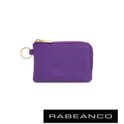 RABEANCO 迷時尚系列鑰匙零錢包 亮紫