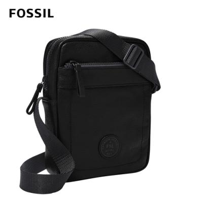 FOSSIL Sport 單肩真皮休閒斜背包-黑色 MBG9528001