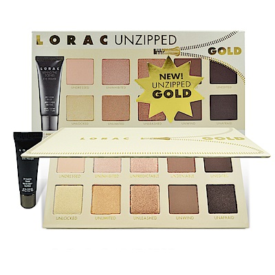 Lorac Unzipped Gold 10色眼影盤+眼部打底膏 5.5g