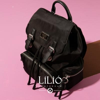【LILIO】玄青_壓扣式手提/雙肩後背包_簡約生活_SOLID