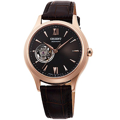ORIENT東方錶ELEGANT系列優雅小鏤空機械腕女錶(RA-AG0023Y)-玫瑰金