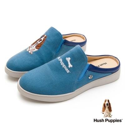 Hush Puppies 經典巴吉度穆勒鞋款-藍色