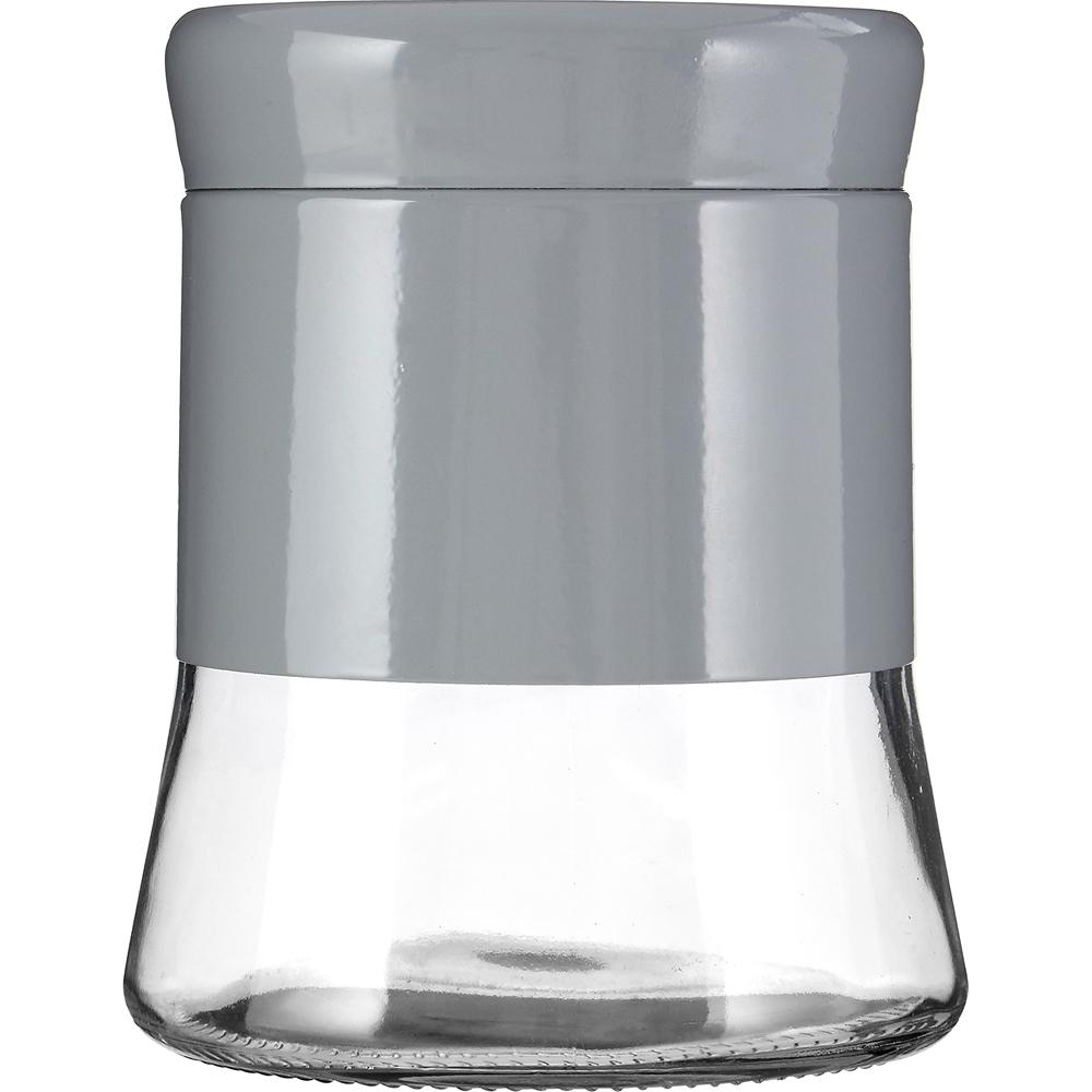 《Premier》旋蓋玻璃收納罐(灰800ml)