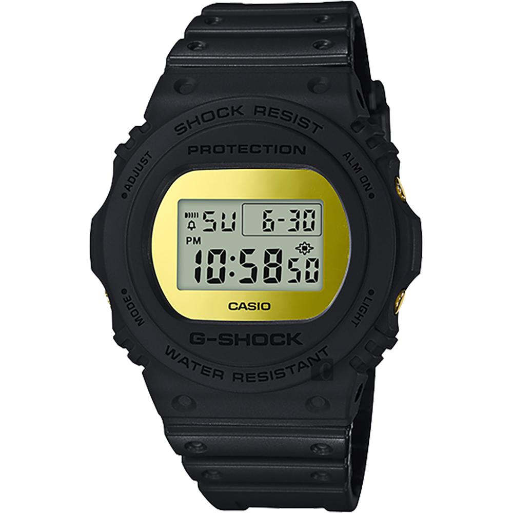 CASIO 卡西歐 G-SHOCK 35周年 MIRROR DW-5700 經典王者手錶