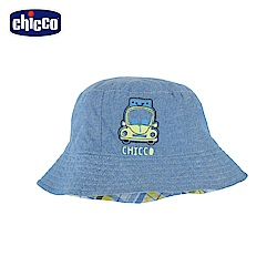 chicco-車車旅遊趣-格紋雙面帽