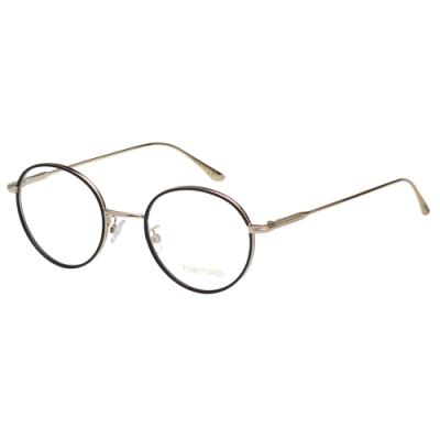 TOM FORD 復古 光學眼鏡(黑配金)TF5566K