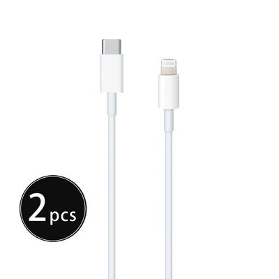 【2入組】Apple適用 iPhone 12 Pro系列 USB-C to Lightning 連接線 - 1M