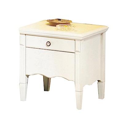 綠活居 戴利時尚白1.7尺床頭櫃/收納櫃-51x46x51cm-免組