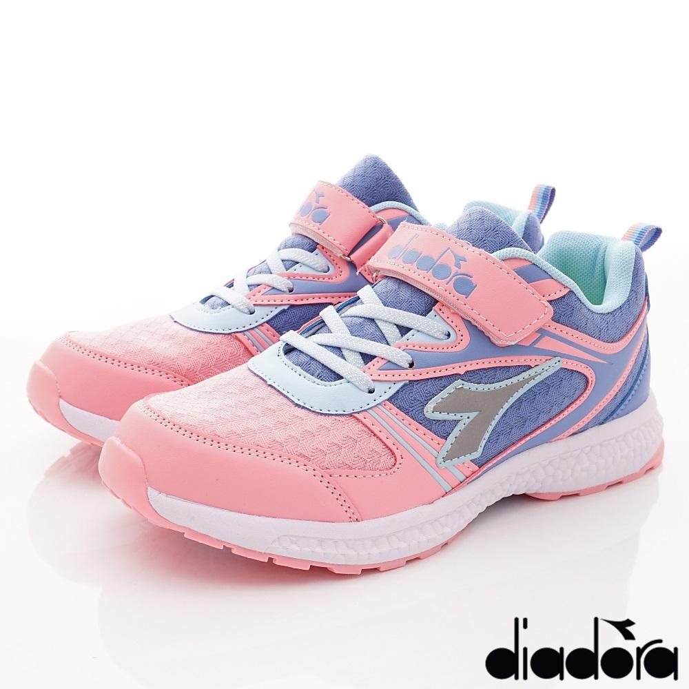 DIADORA 彈力輕量運動跑鞋款 RSE122粉(中大童段)