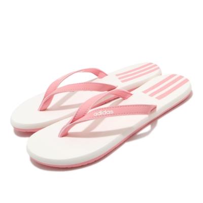 adidas 拖鞋 Eezay Flip Flop 夾腳 女鞋 愛迪達 輕便 夏日 簡約 基本款 粉 白 EG2035