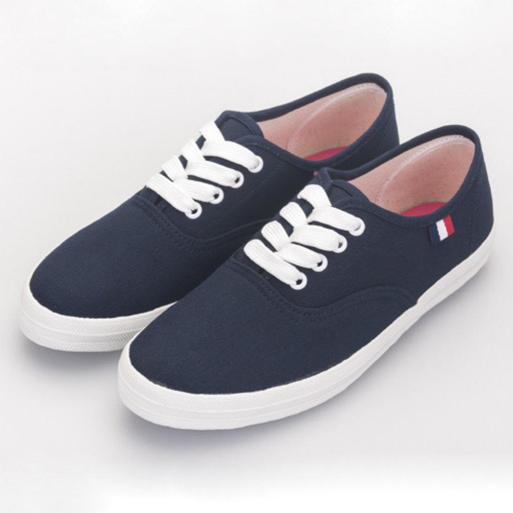 BuyGlasses 休閒感布面低統鞋-藍