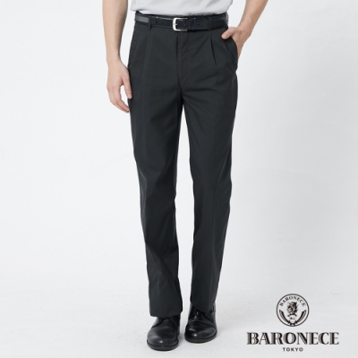 BARONECE 百諾禮士休閒商務  男裝 天絲縲縈打褶休閒長褲--橄欖綠色(1188889-49)