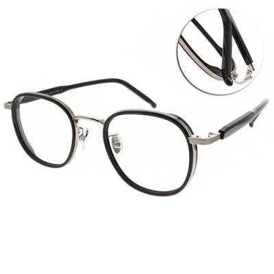 NINE ACCORD光學眼鏡  韓系知性都會款/黑-槍 #PLACO RYAN C2