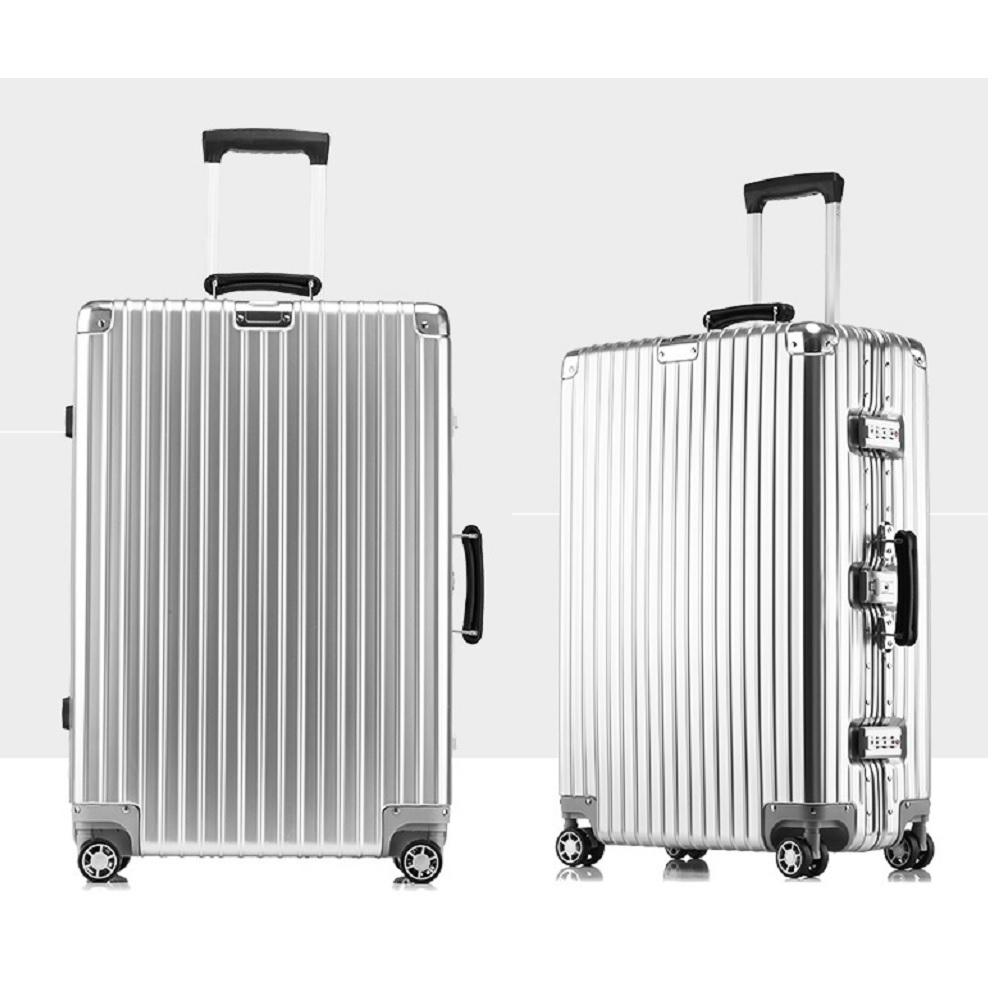 《箱旅世界》26吋 復古鋁框防刮行李箱、懷舊 登機箱 旅行箱 復古行李箱