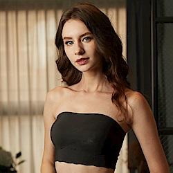 華歌爾- gococi  S-L 平口內衣(黑)無鋼圈-套穿式無痕親膚