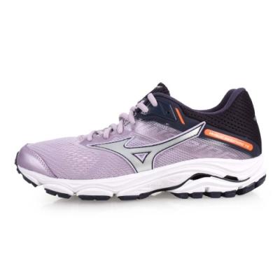 MIZUNO WAVE INSPIRE 15 女慢跑鞋-路跑  粉紫黑銀