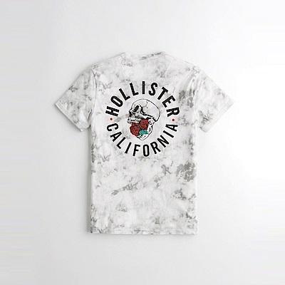 HCO Hollister 海鷗 經典印刷文字流行圖案短袖T恤-白灰色