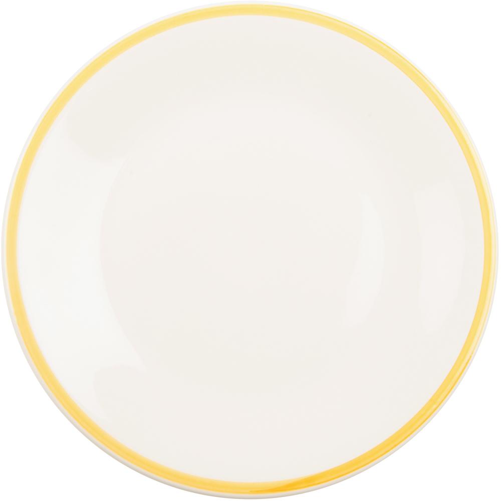 《EXCELSA》陶製勾邊餐盤(黃L)