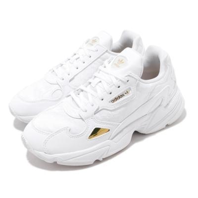 adidas 休閒鞋 Falcon 老爹鞋 厚底 女鞋 愛迪達 三葉草 流行款 穿搭 金標 白 灰 EG5161