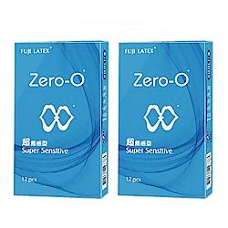 FUJI LATEX ZERO-0 零零系列 超觸感型 衛生套 保險套 12入/盒x2盒