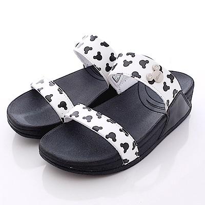 迪士尼童鞋米奇輕量拖鞋款FO64740白大童親子段