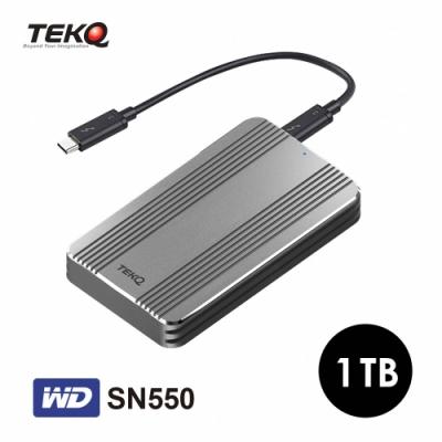 TEKQ Rapide WD SN550 Thunderbolt 3 1T PCIe Gen3X4 外接式 SSD 行動固態硬碟