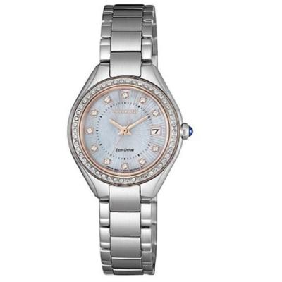 CITIZEN星辰 LADY S施華洛世奇光動能時尚腕錶26mm-(EW2556-83Y)