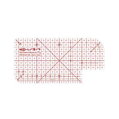 縫紉工具 NCC 熨斗用止滑定規尺10X20cm
