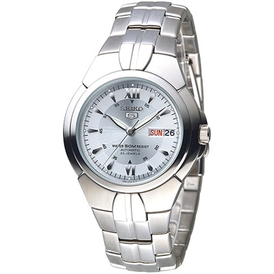 SEIKO 紳士5號盾牌23石機械腕錶-白(SNZC27K1)/39mm