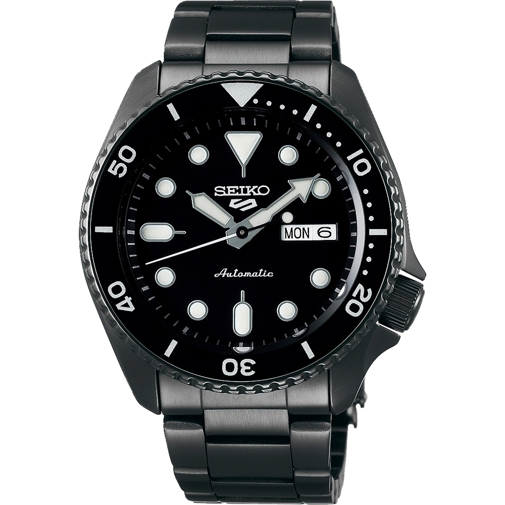 SEIKO 精工 5 Sports IP黑機械腕錶(SRPD65K1)x42.5mm