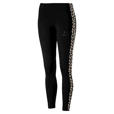 PUMA-女性流行系列野地迷彩緊身褲-黑色-歐規