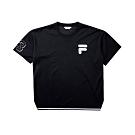 FILA #LINEA ITALIA 短袖圓領T恤-黑 1TET-5403-BK